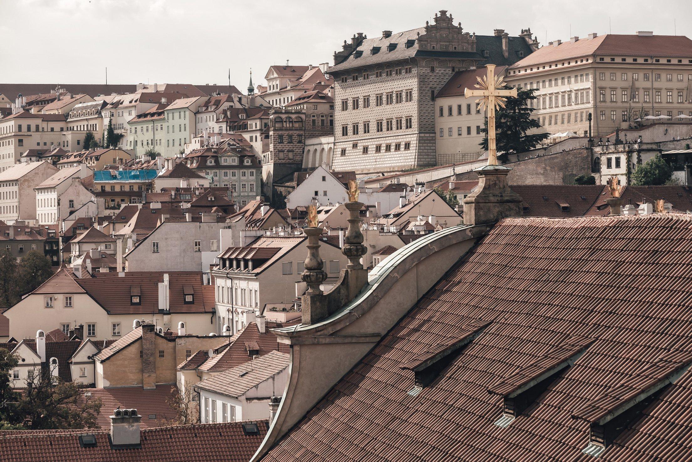 布拉格屋顶和城市景观 Prague Rooftops Cityscape插图(4)