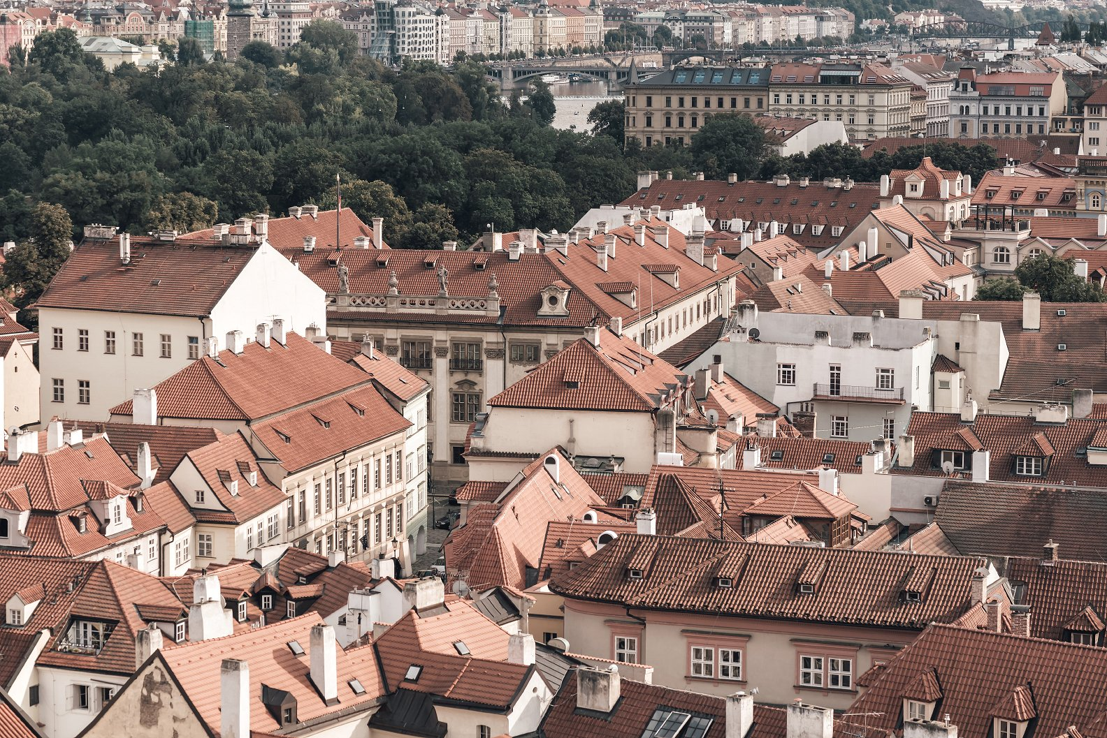 布拉格屋顶和城市景观 Prague Rooftops Cityscape插图(3)