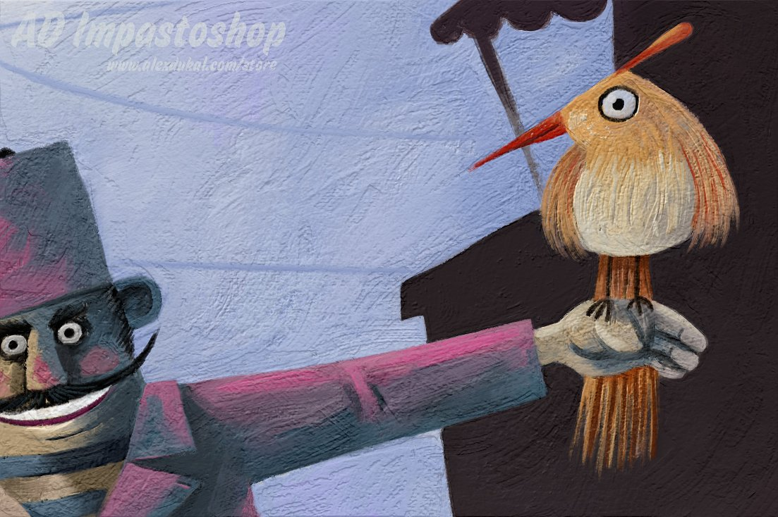 超逼真松油气味颜料笔刷厚涂绘画PS插件AD Impastoshop汉化版插图(6)