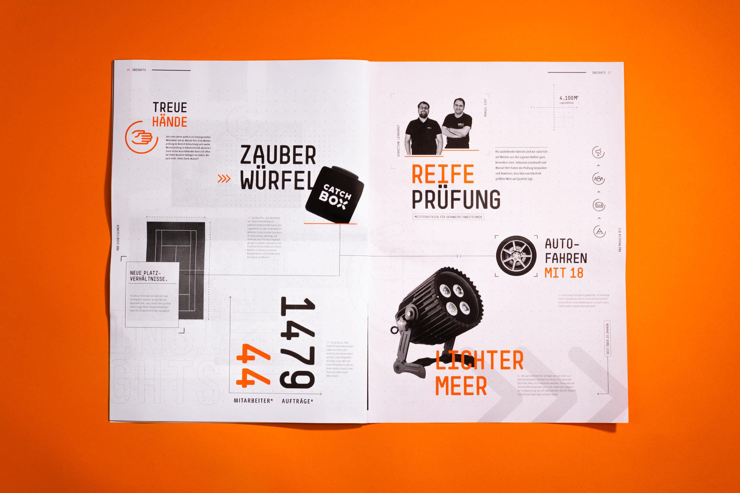 精美橘红杂志设计插图(1)