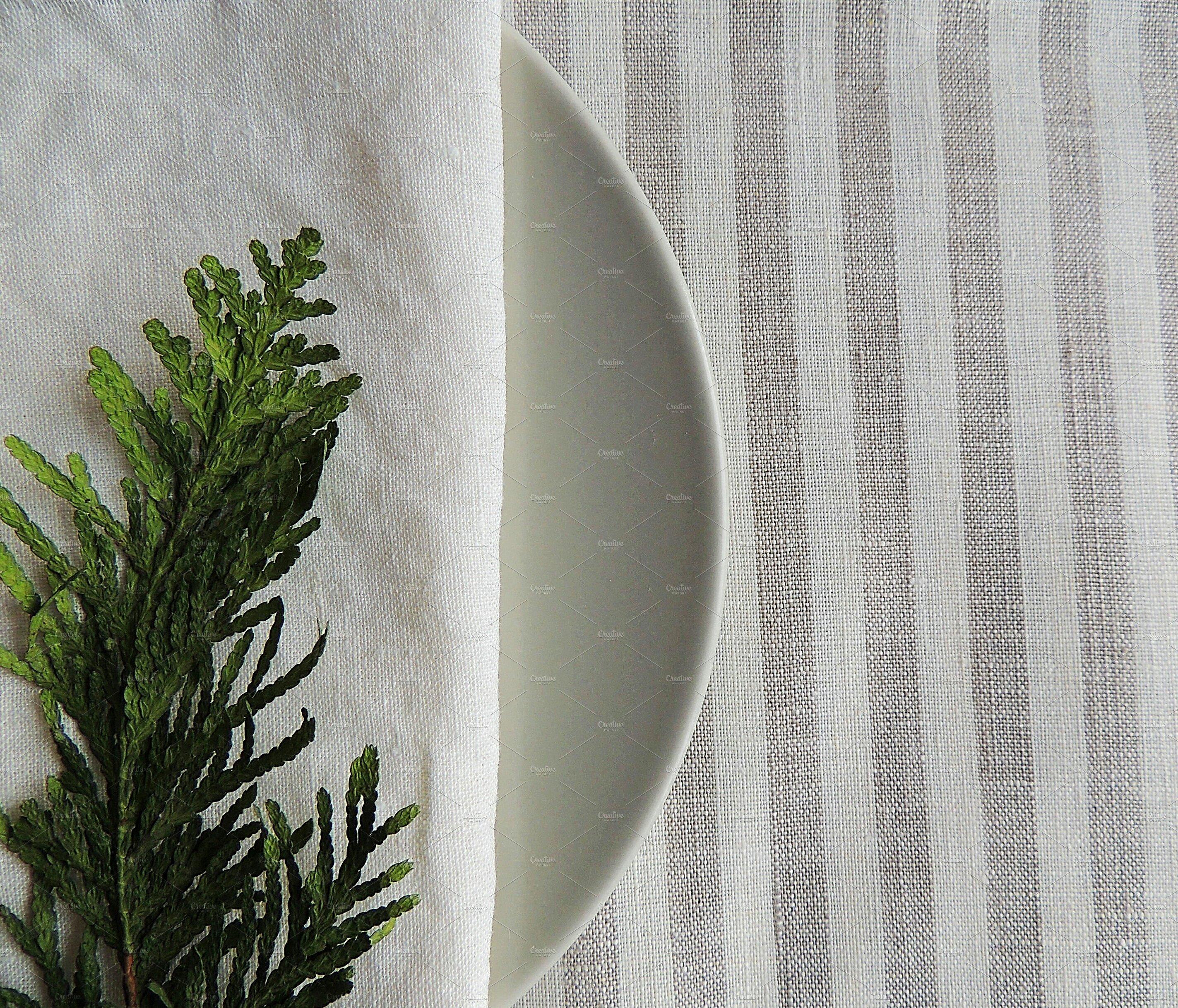 天然亚麻织物束高清图片插图(6)