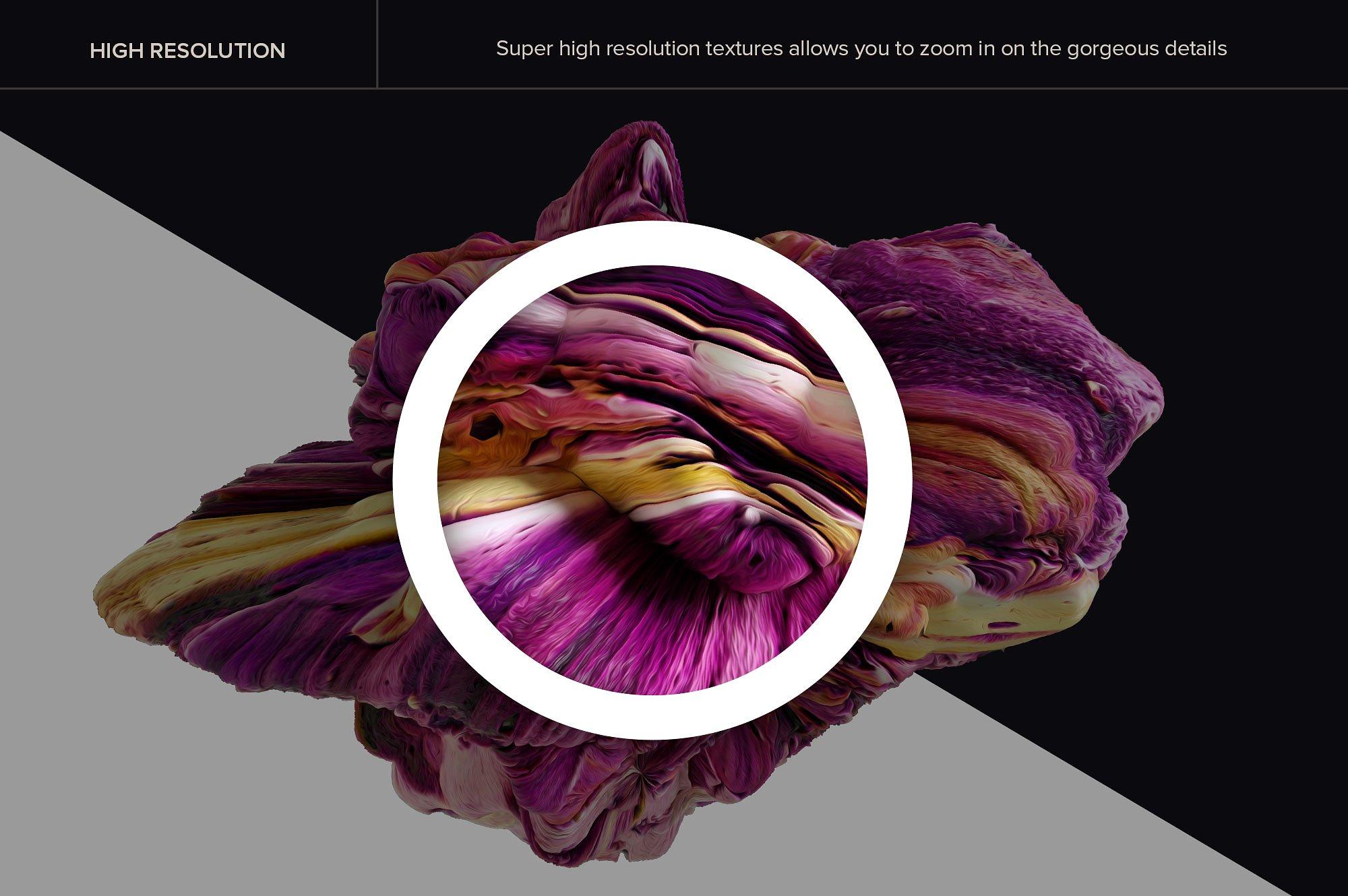 创意抽象纹理系列:15款高清3D抽象纹理&笔刷 3D Mirage, Vol. 1 (Exclusive)插图1
