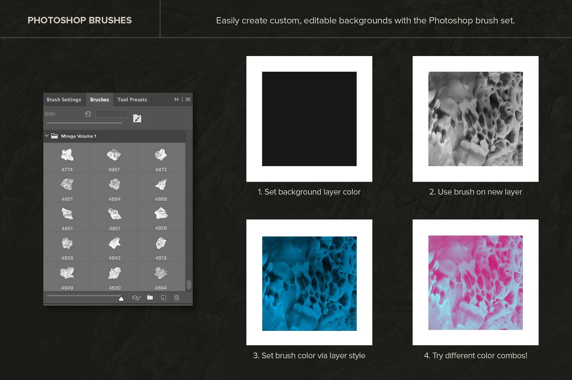 创意抽象纹理系列:15款高清3D抽象纹理&笔刷 3D Mirage, Vol. 1 (Exclusive)插图3