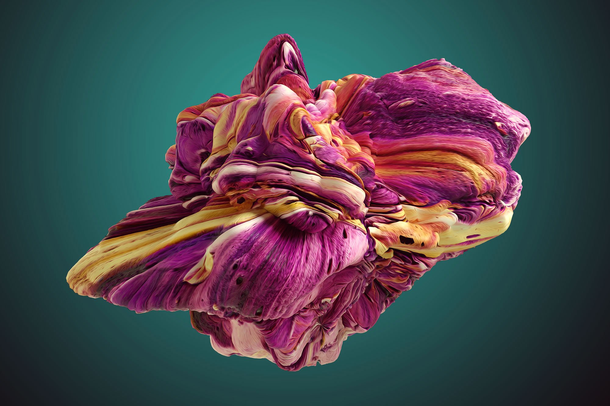 创意抽象纹理系列:15款高清3D抽象纹理&笔刷 3D Mirage, Vol. 1 (Exclusive)插图5
