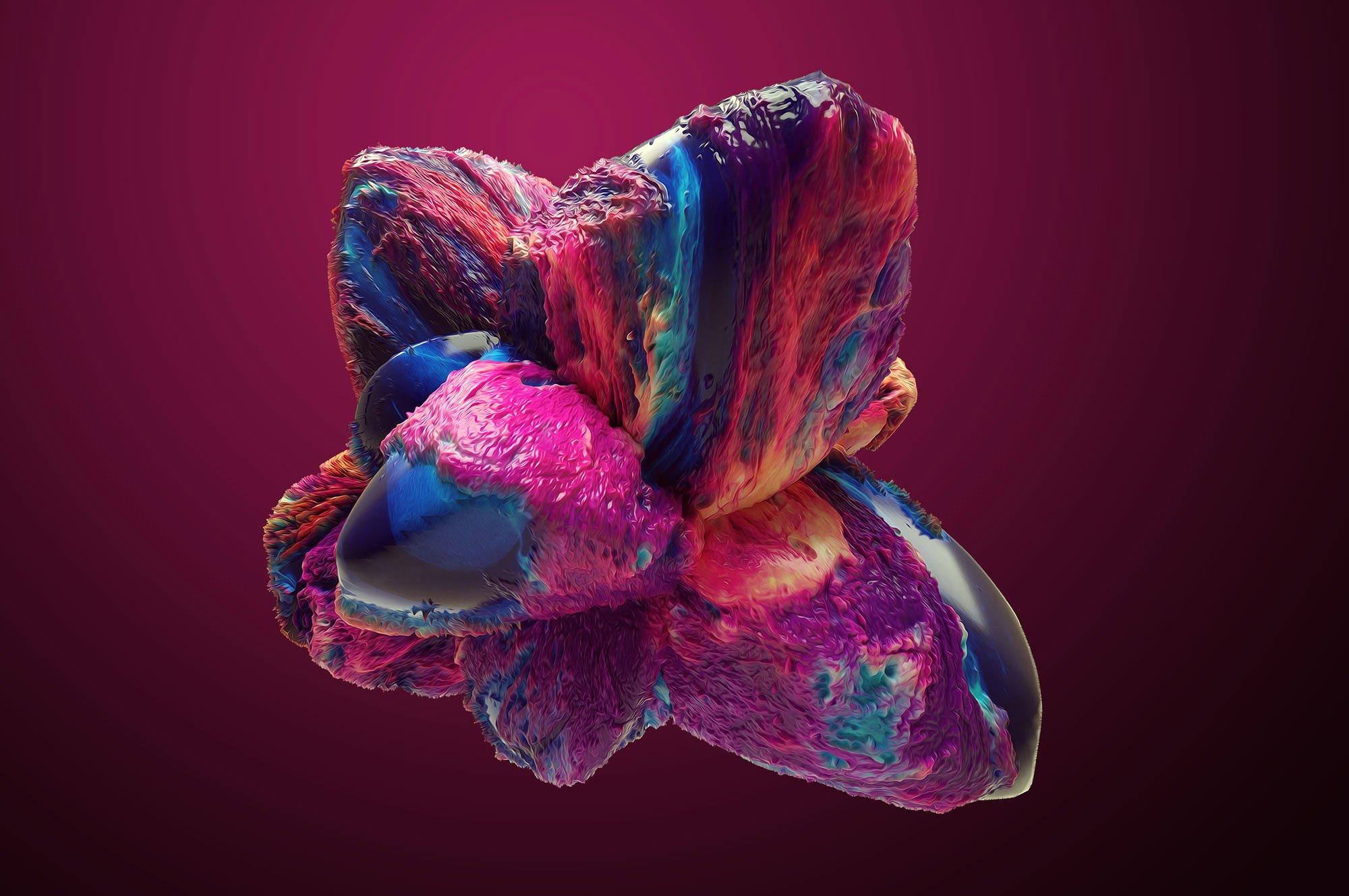 创意抽象纹理系列:15款高清3D抽象纹理&笔刷 3D Mirage, Vol. 1 (Exclusive)插图7
