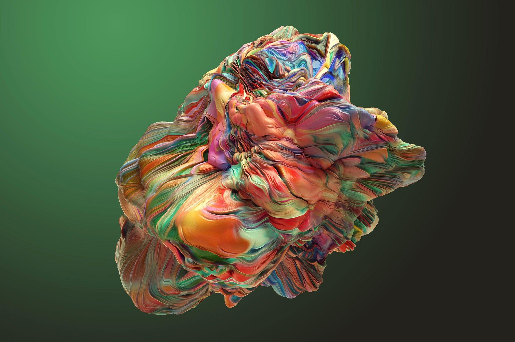 创意抽象纹理系列:15款高清3D抽象纹理&笔刷 3D Mirage, Vol. 1 (Exclusive)插图4