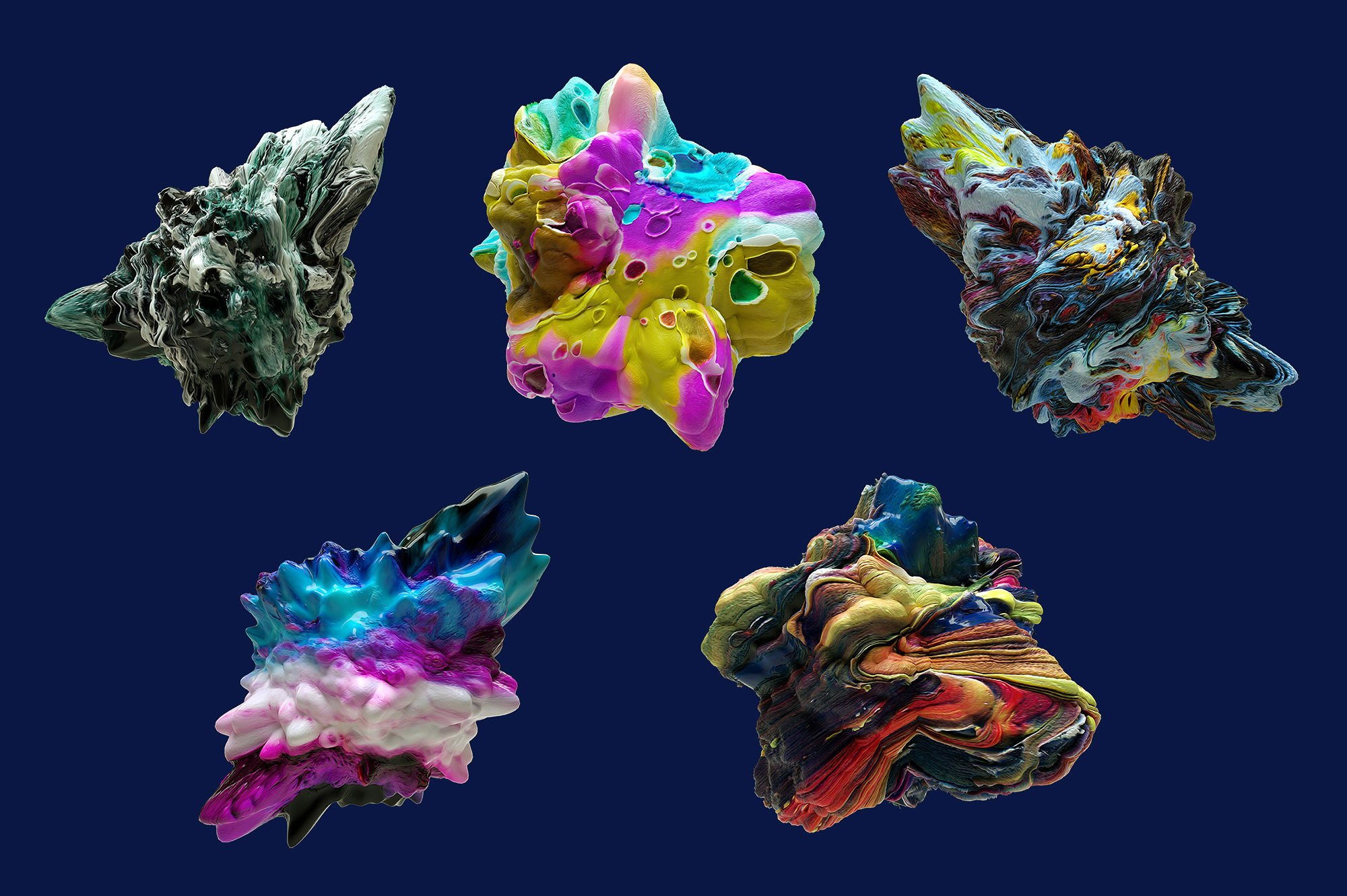 创意抽象纹理系列:15款高清3D抽象纹理&笔刷 3D Mirage, Vol. 1 (Exclusive)插图9