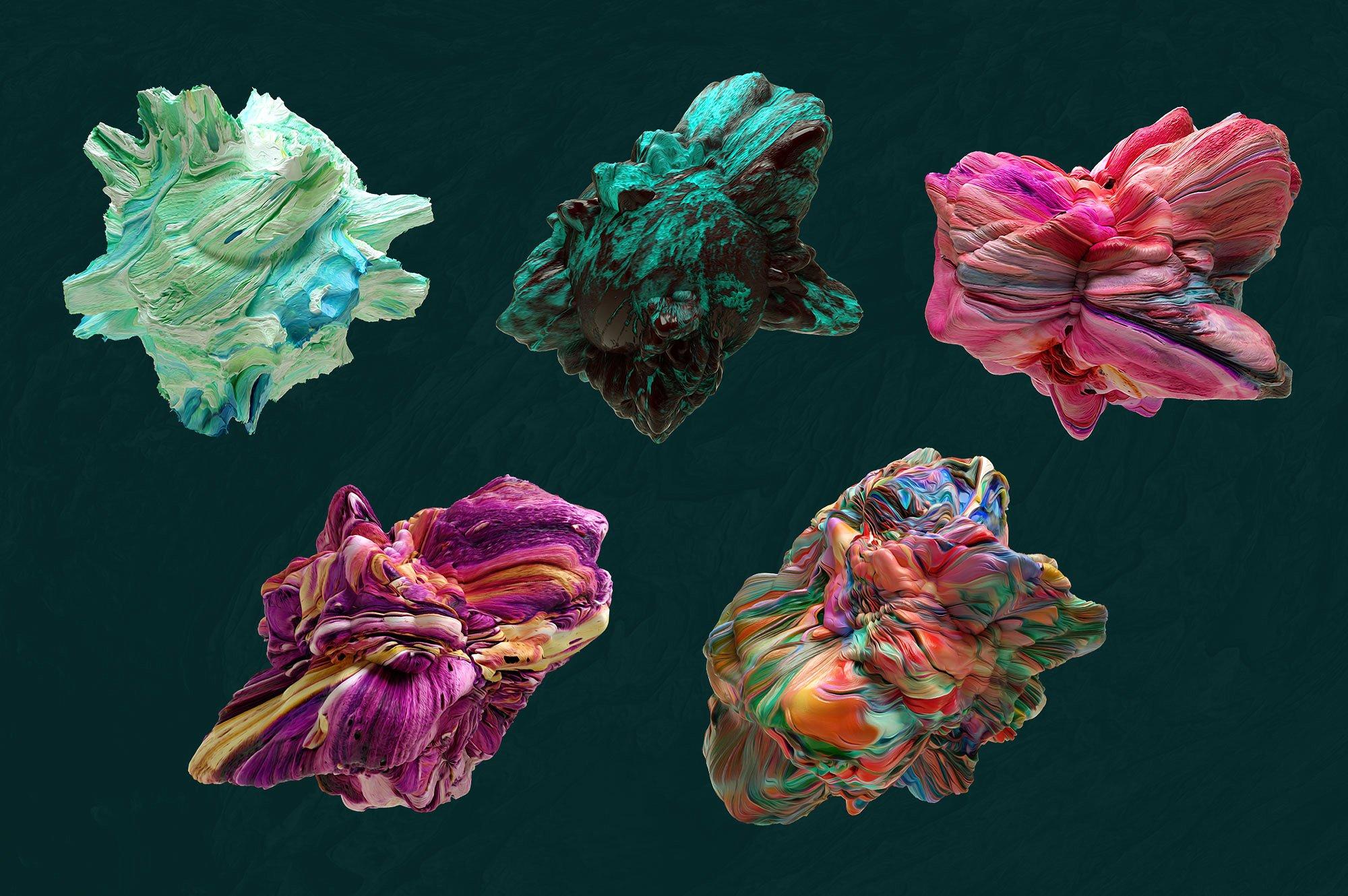 创意抽象纹理系列:15款高清3D抽象纹理&笔刷 3D Mirage, Vol. 1 (Exclusive)插图10