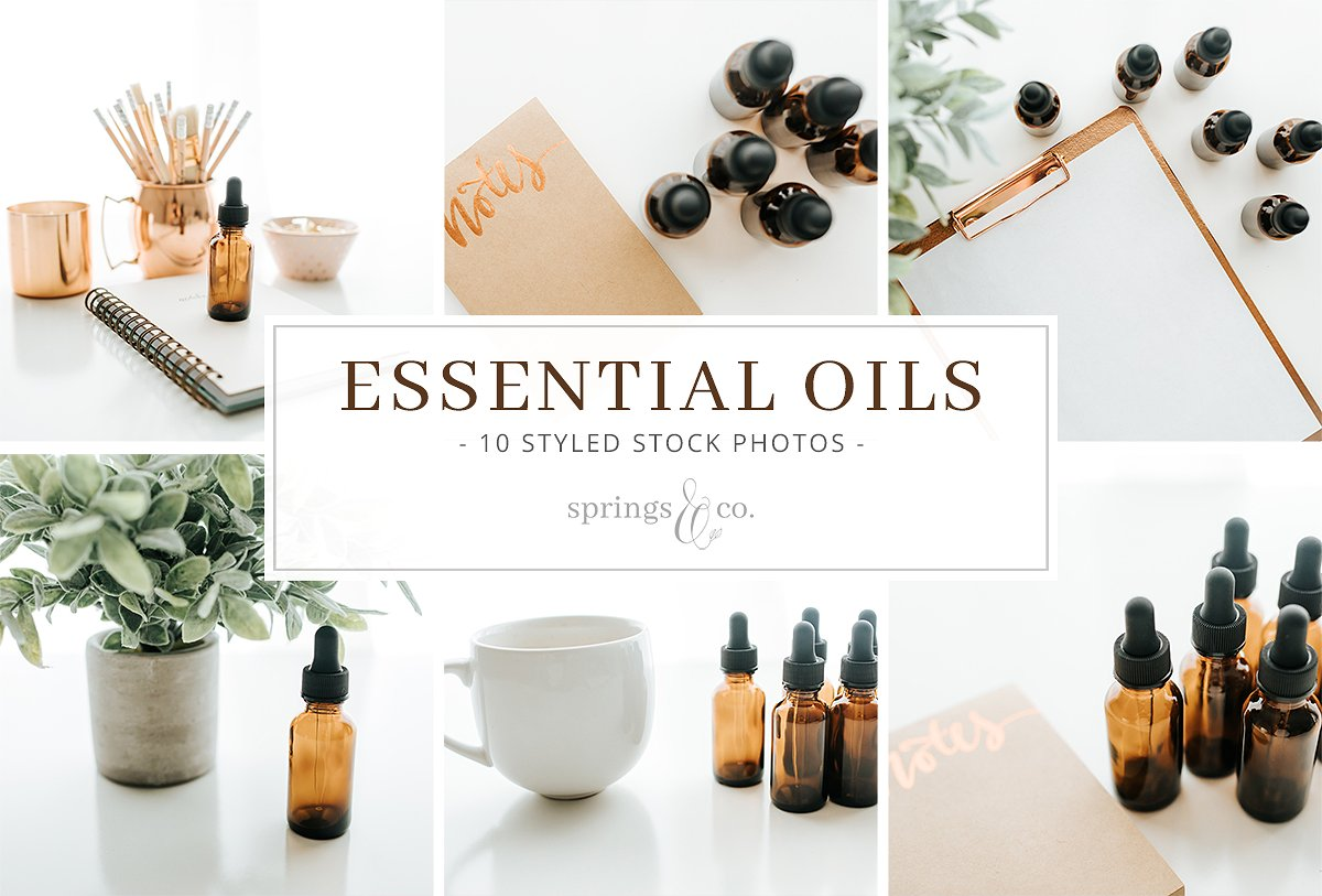 精油库存照片集合 Essential Oils Stock Photo Bundle插图