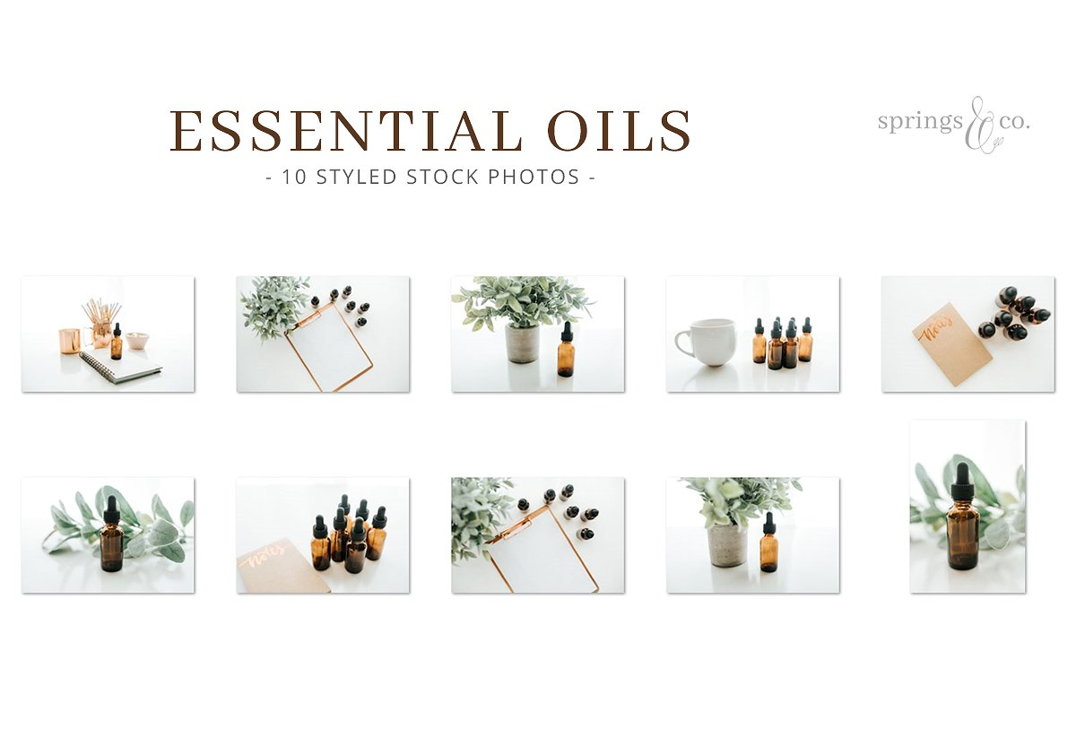 精油库存照片集合 Essential Oils Stock Photo Bundle插图(1)