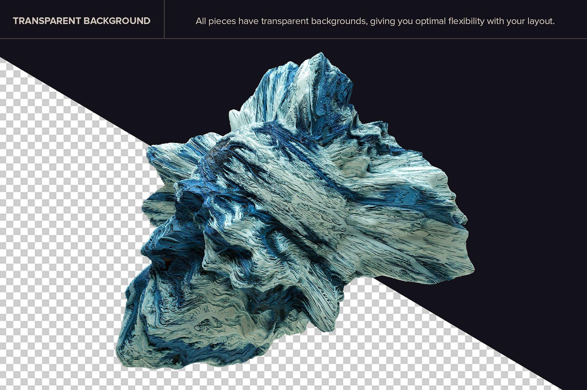 创意抽象纹理系列:10款混合油漆矿石有机图案3D纹理&PS笔刷 Tectonic (Exclusive)插图2