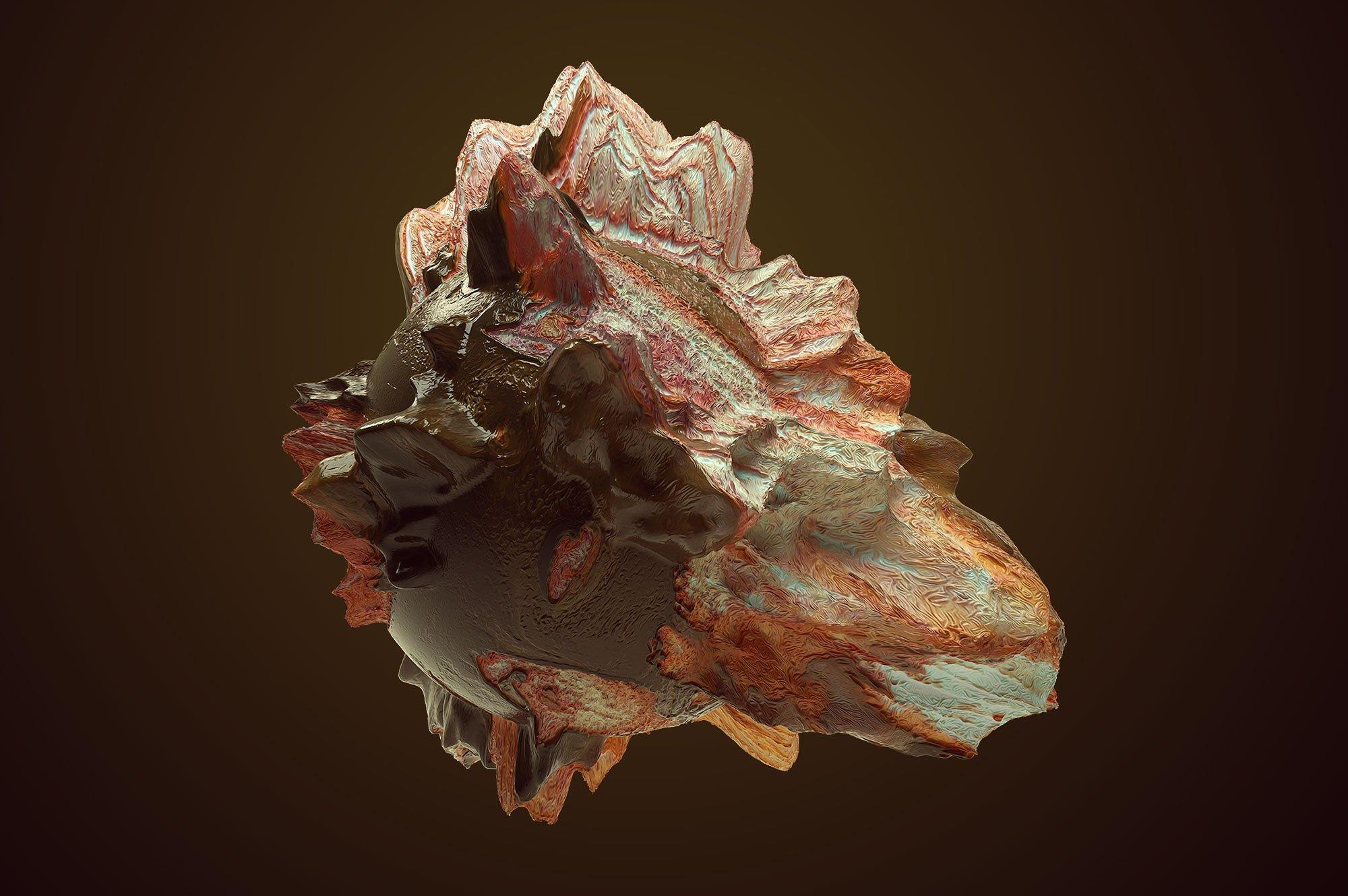 创意抽象纹理系列:10款混合油漆矿石有机图案3D纹理&PS笔刷 Tectonic (Exclusive)插图4