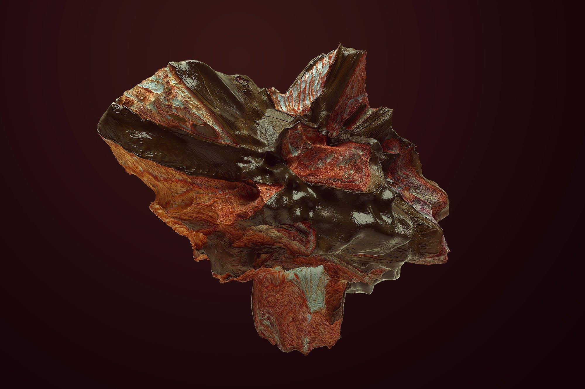 创意抽象纹理系列:10款混合油漆矿石有机图案3D纹理&PS笔刷 Tectonic (Exclusive)插图6