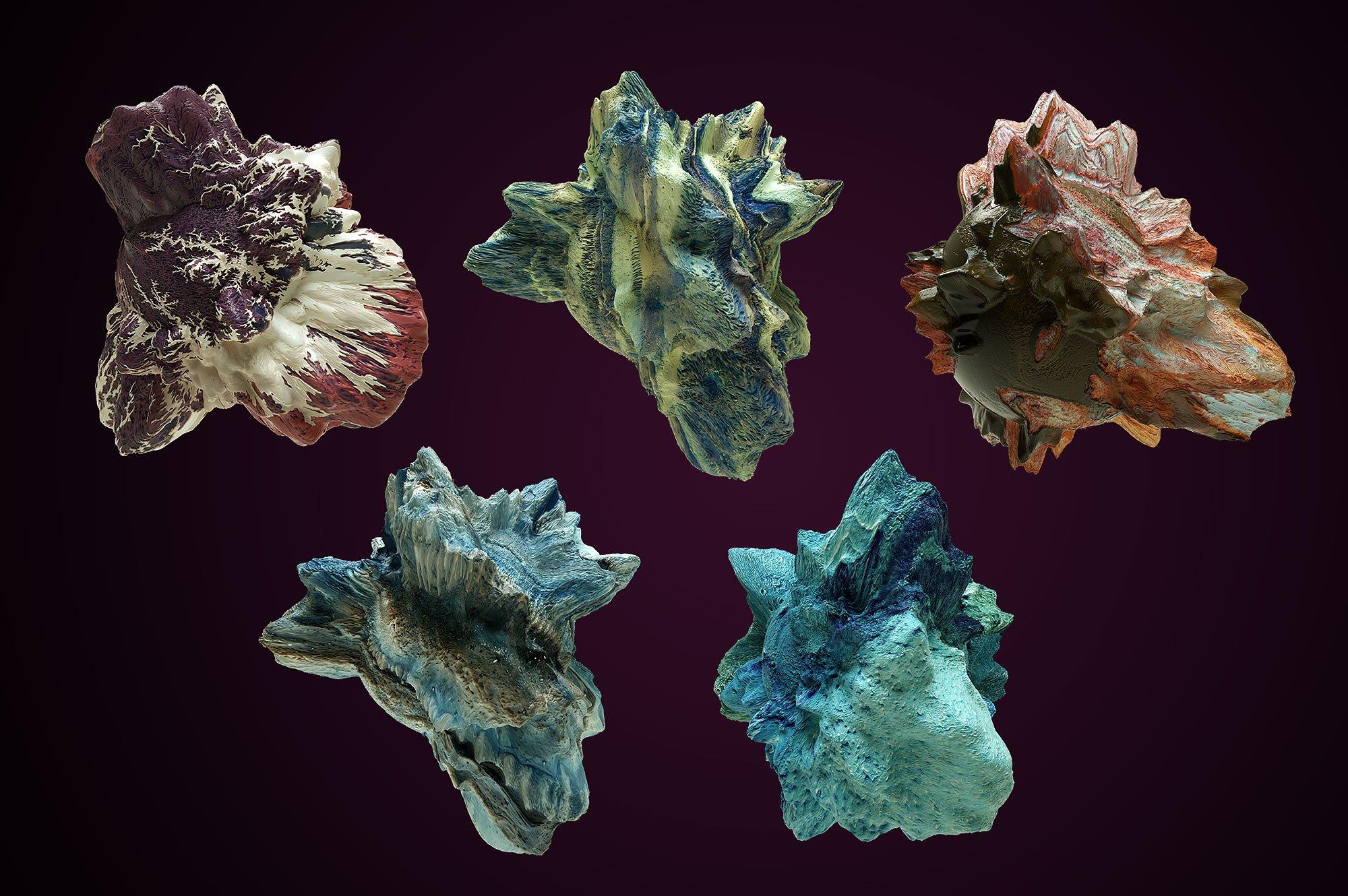 创意抽象纹理系列:10款混合油漆矿石有机图案3D纹理&PS笔刷 Tectonic (Exclusive)插图8