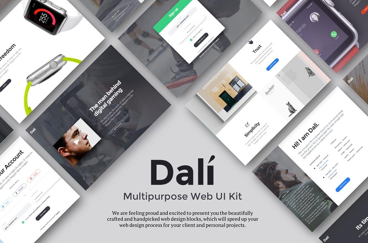 多用途Web UI工具包 Dali Multipurpose Web UI Kit插图