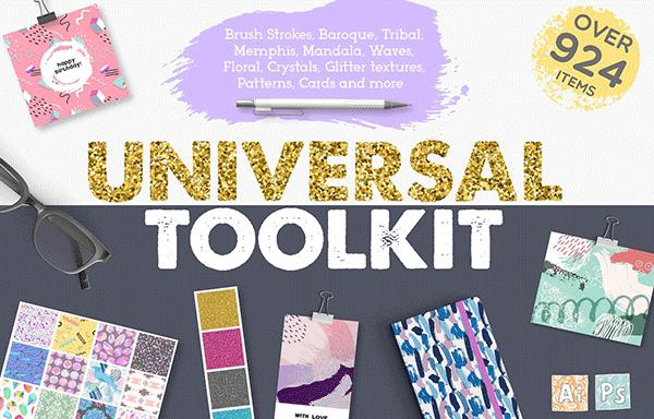 超级通用的设计元素图案合集 Universal Toolkit 924 items Pro