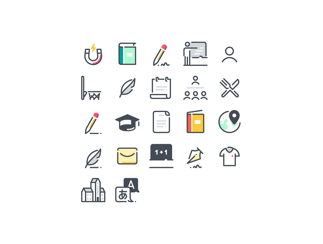 72个学校教育主题图标合集 72 School Icons插图5