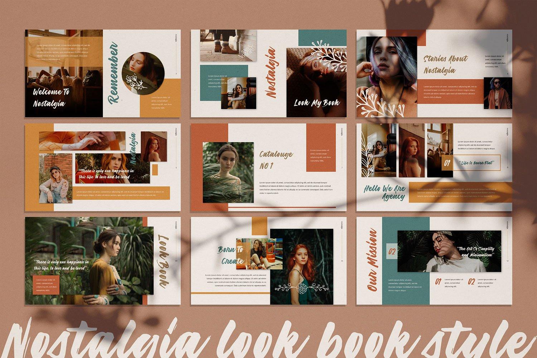 创意怀旧的服装品牌摄影幻灯片演示模板  Creative Nostalgic Clothing Brand Photography Slide Presentation Template插图1