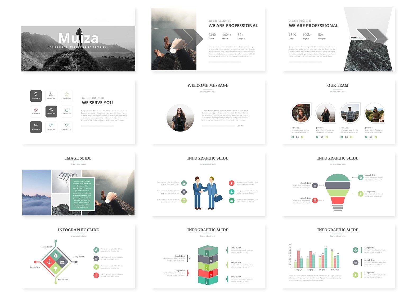 强大的灰色系的个人简历幻灯片模板  Powerful Grey Departmental Resume Slide Template插图1