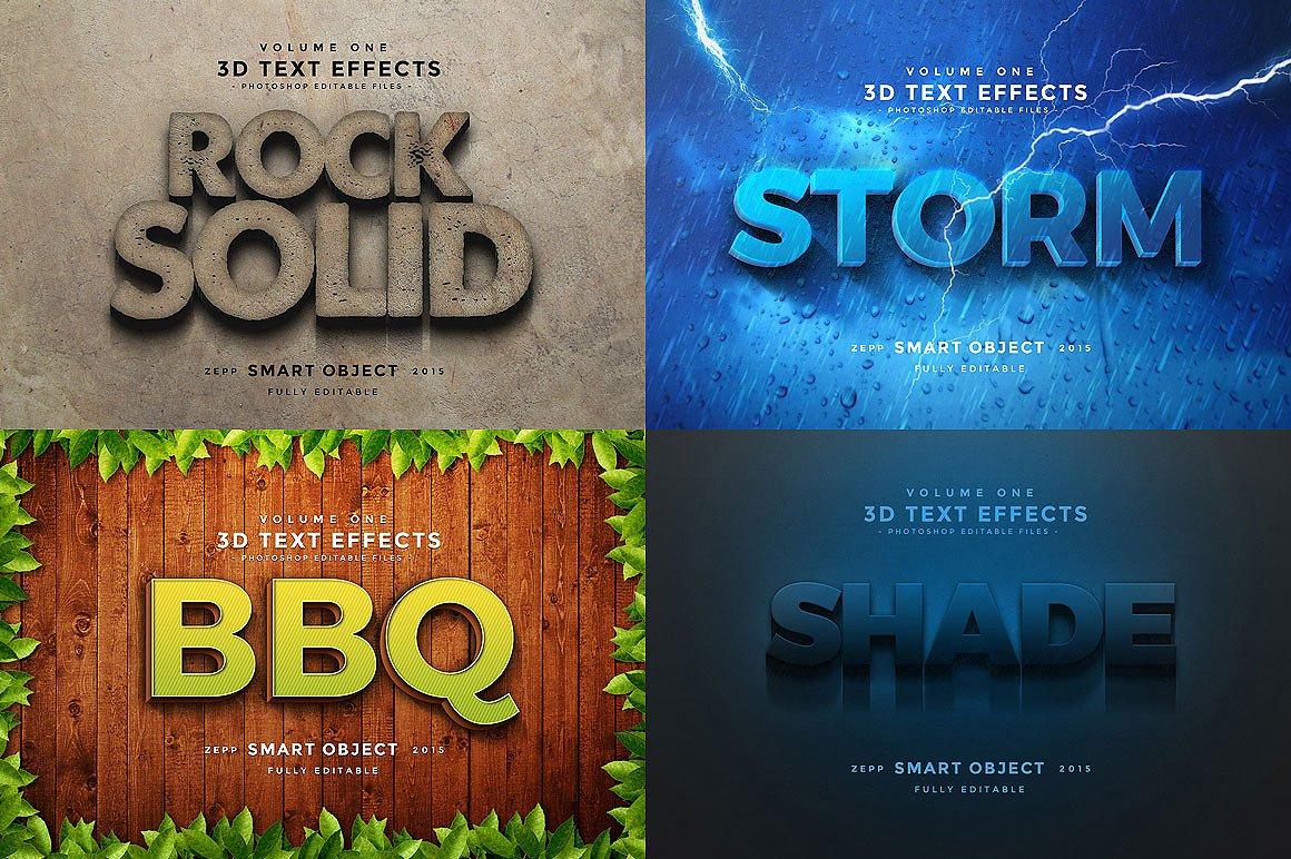 150款非常好用的Photoshop3D文字效果 150 3D Text Effects Bundle for Photoshop [PSD/ASL]插图(28)