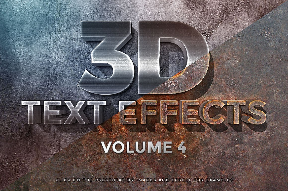 150款非常好用的Photoshop3D文字效果 150 3D Text Effects Bundle for Photoshop [PSD/ASL]插图(41)