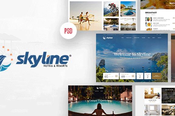 有吸引力的和现代的假日酒店网站模板 Attractive And Modern Holiday Hotel Website Template