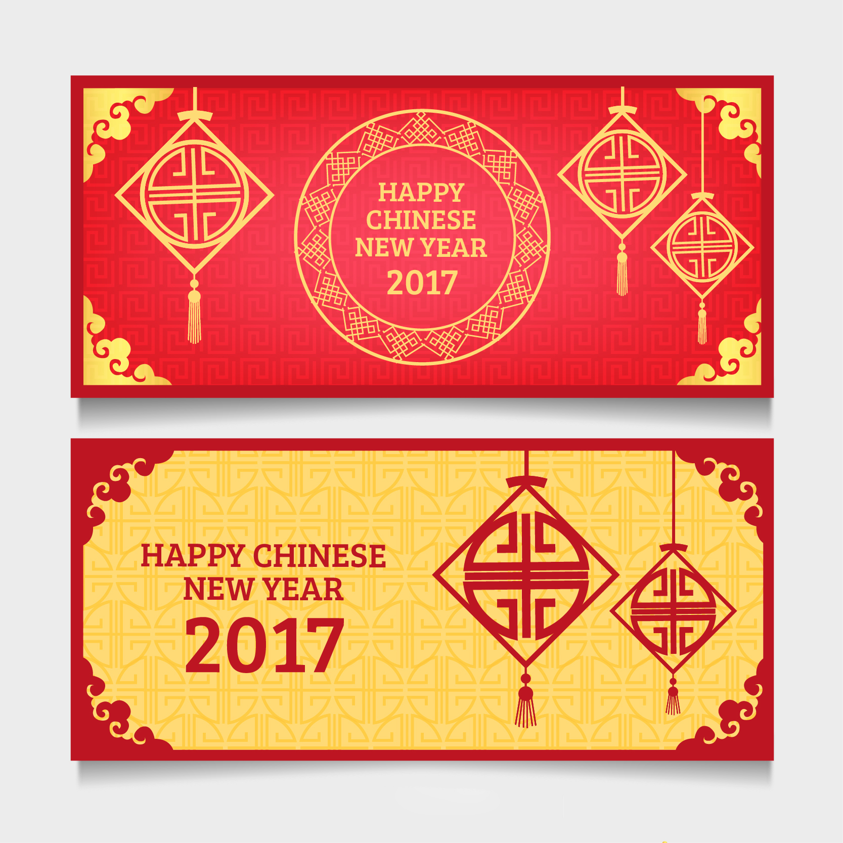 2019新年农历猪年贺卡矢量素材模板 2019 New Year Lunar Year Of The Pig Greeting Card Vector Material Template插图(1)