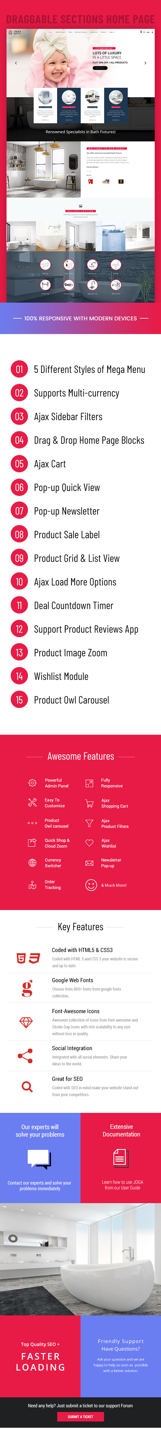 浴室配件销售商店网站Shopify主题模板 Bathroom Accessories Sales Store Website Shopify Theme Template插图