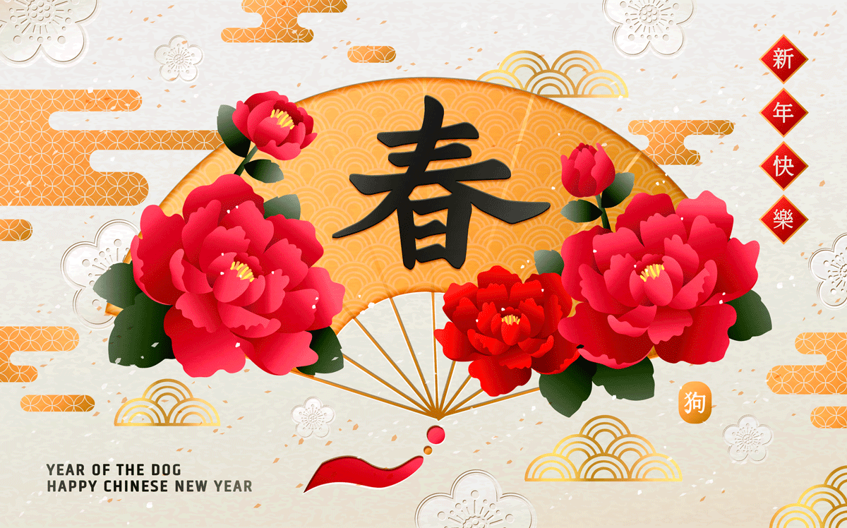 高品质中国传统春节幸福海报矢量模板EPS High Quality Chinese Traditional Spring Festival Happiness Poster Vector Template EPS插图