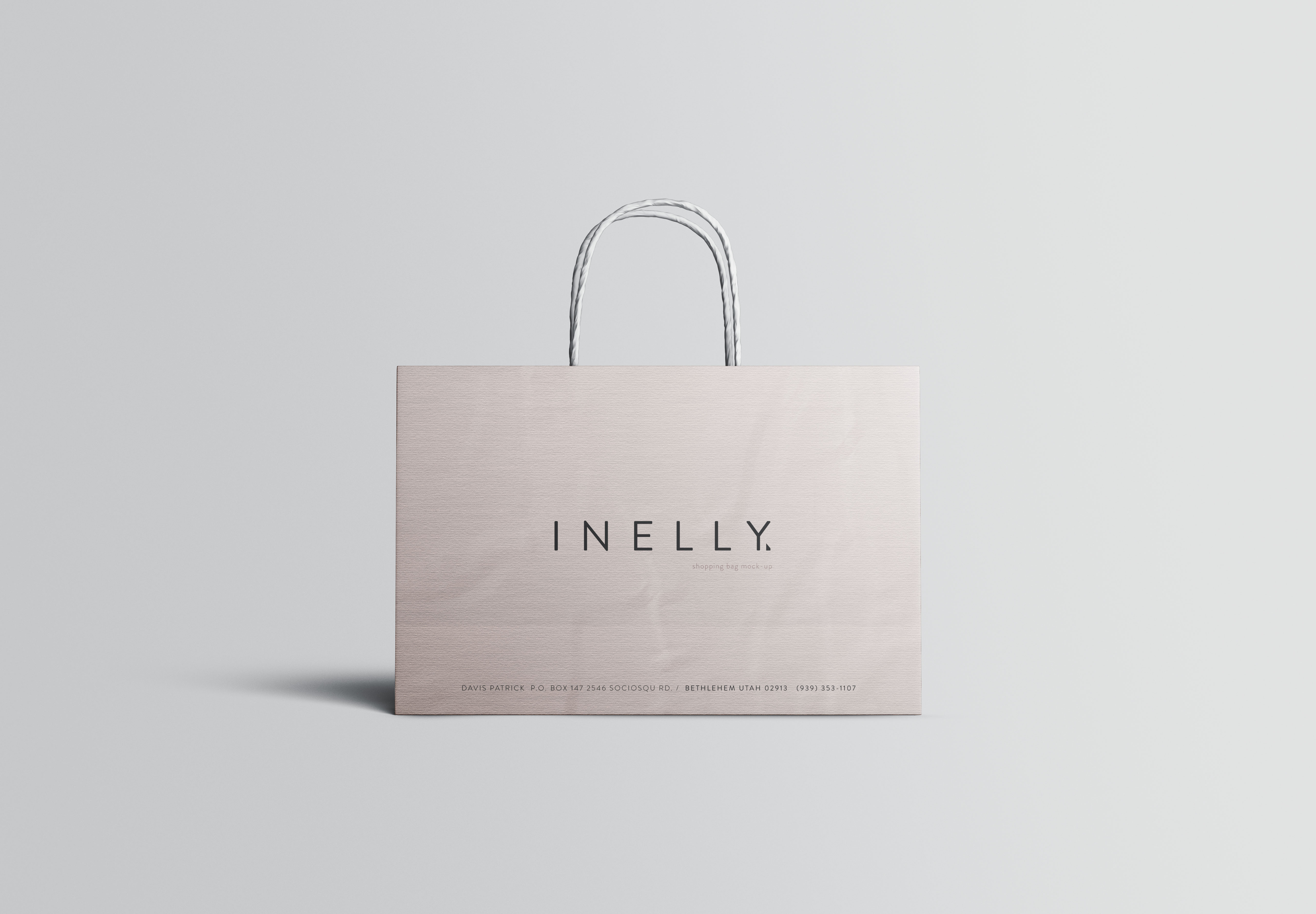 ppt插图素材下载_高端大气纸质商场购物袋手提袋样机 Paper Shopping Bag Mockup – 早道 ...