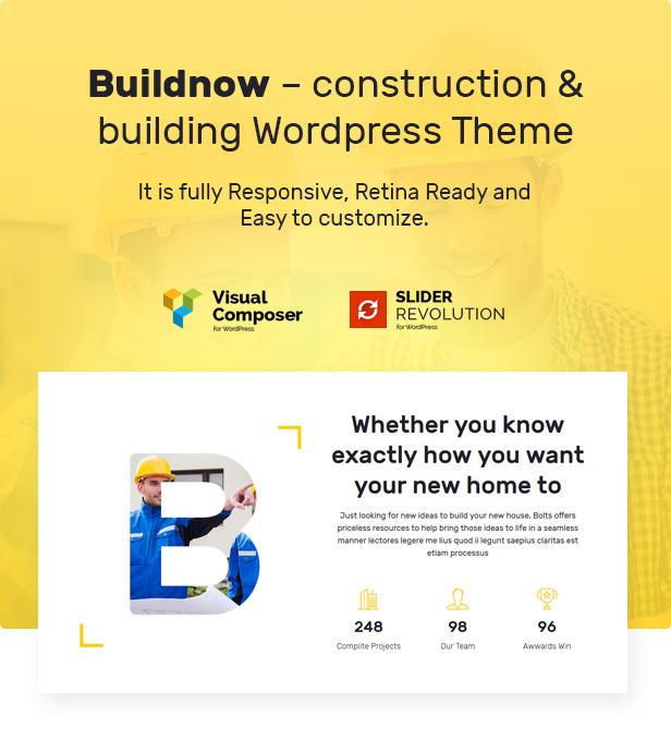 设计建造/建筑工程公司WordPress模板 Buildnow – Construction & Building WordPress Theme插图