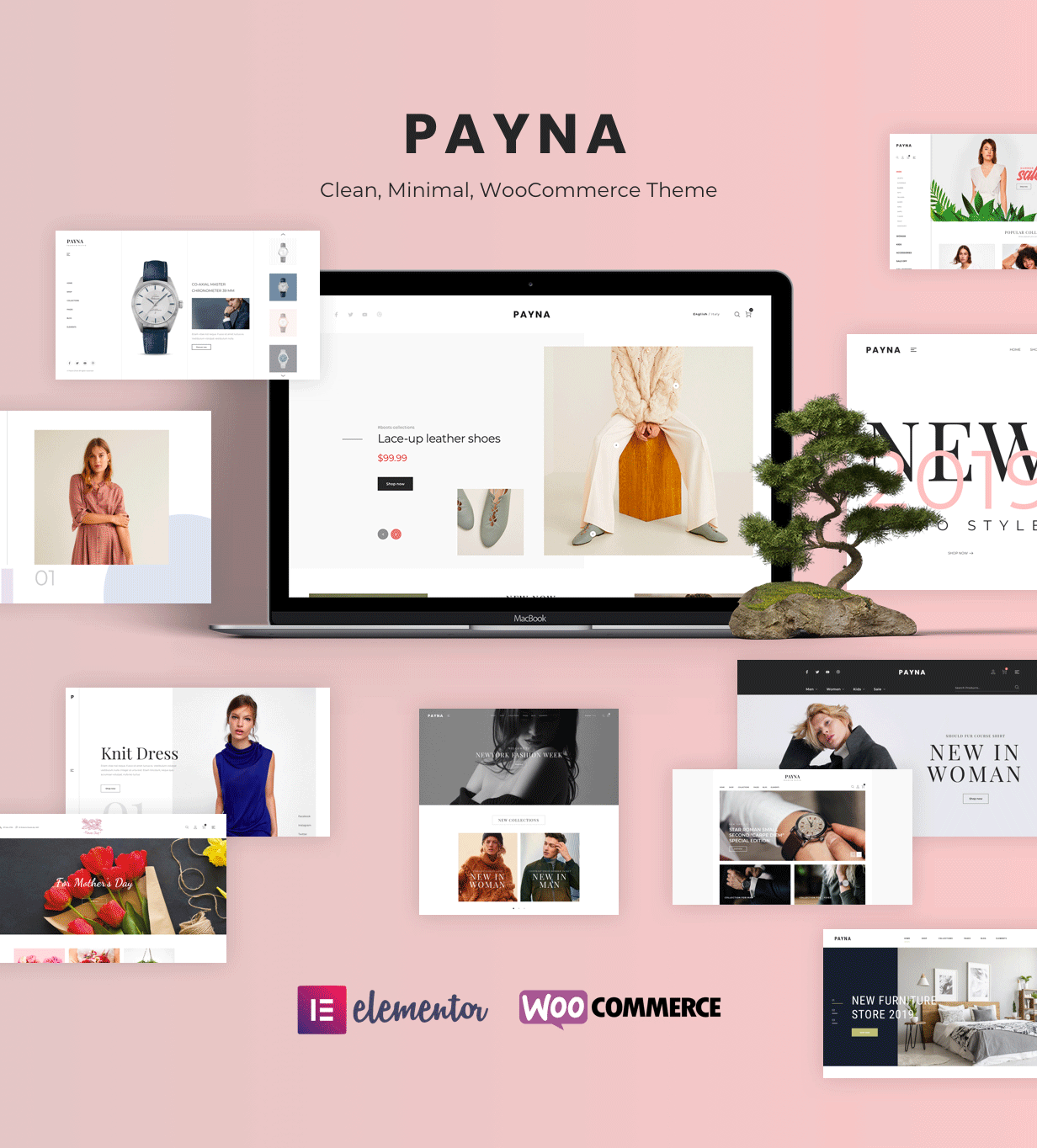 简约时装百货商场电子商城WordPress模板 Payna – Clean, Minimal WooCommerce Theme插图