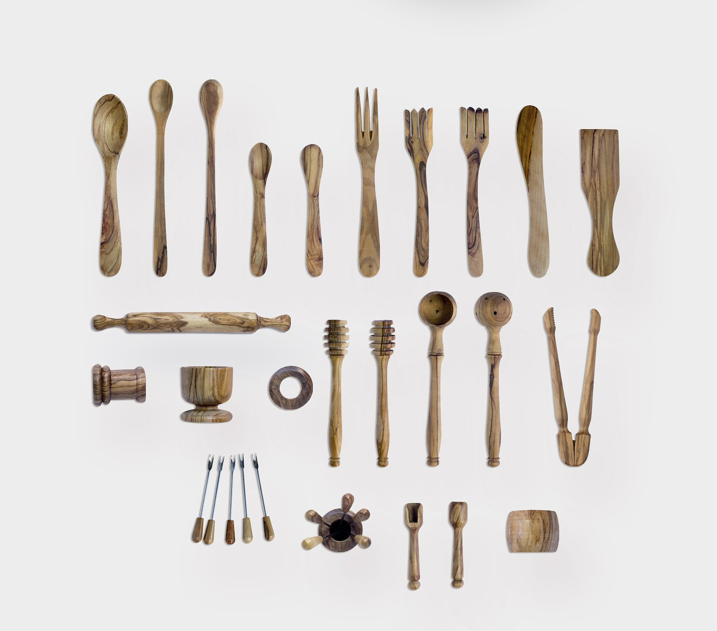 5.98G 餐饮品牌设计提案橄榄木木质餐具展示样机 Olive Wood Mock-Up Scene Generator插图(3)