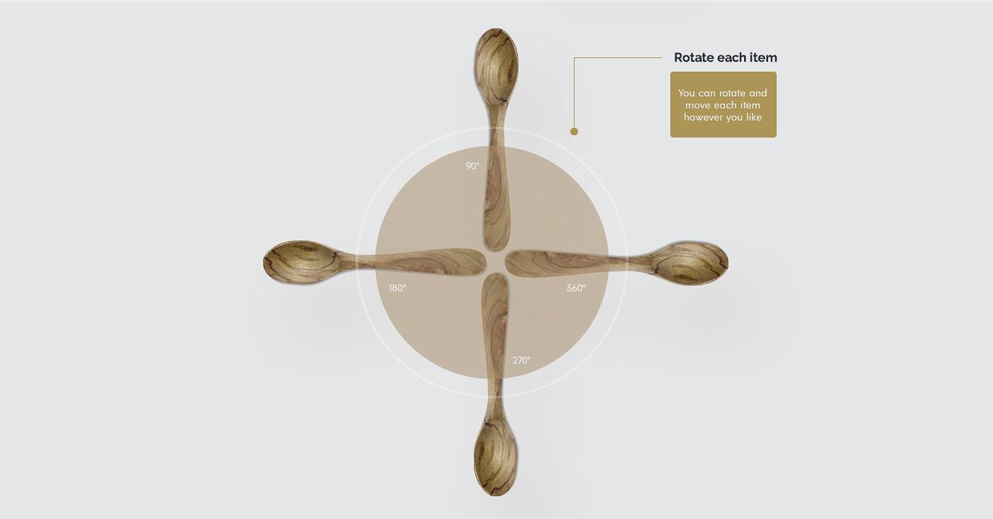 5.98G 餐饮品牌设计提案橄榄木木质餐具展示样机 Olive Wood Mock-Up Scene Generator插图(4)