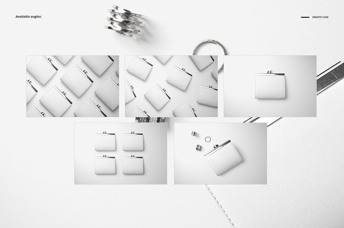时尚皮革钱包品牌设计提案展示样机套装 Leather Wallet Purse Mockup Set插图(2)
