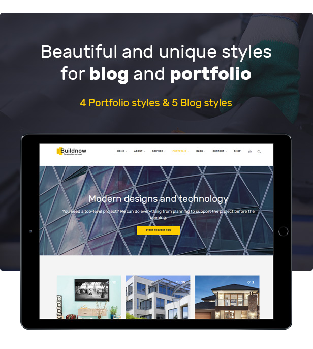 设计建造/建筑工程公司WordPress模板 Buildnow – Construction & Building WordPress Theme插图(2)