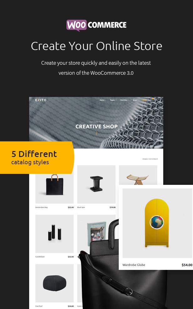 响应式设计师摄影师工作室WordPress模板 Exito – Creative & Comfortable WordPress Theme插图(2)