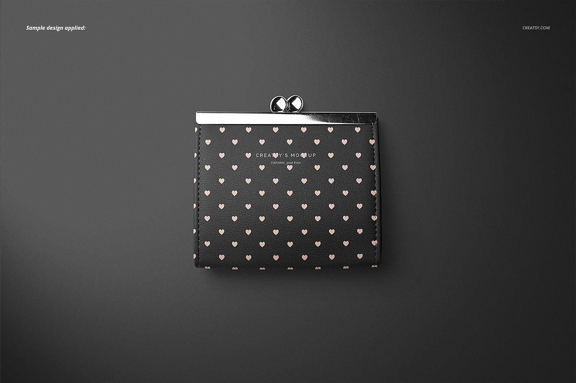 时尚皮革钱包品牌设计提案展示样机套装 Leather Wallet Purse Mockup Set插图(5)