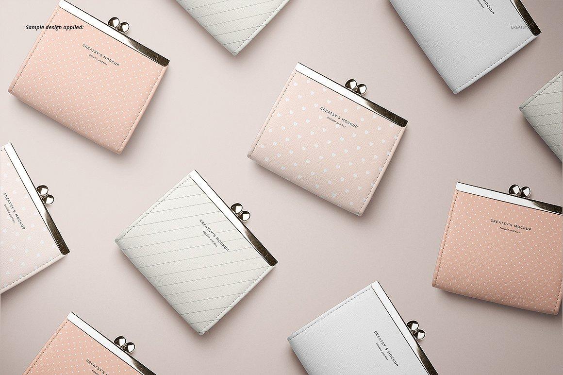 时尚皮革钱包品牌设计提案展示样机套装 Leather Wallet Purse Mockup Set插图(6)