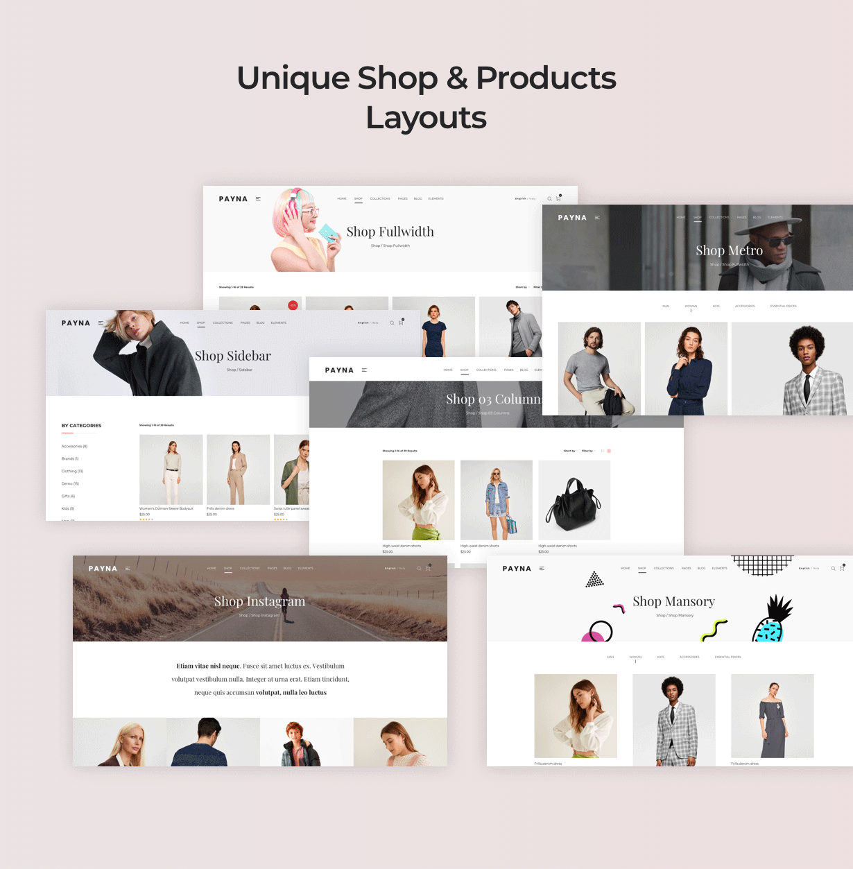 简约时装百货商场电子商城WordPress模板 Payna – Clean, Minimal WooCommerce Theme插图(4)