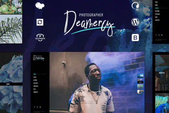 响应式摄影师艺术家作品展示WordPress主题 Deamercy – Photography Portfolio WordPress Theme
