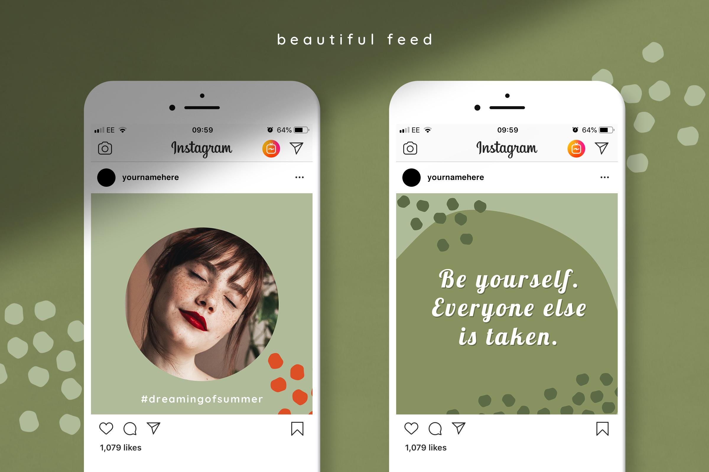 摄影照片朋友圈展示INS风模板图文排版PSD海报 Instagram Quotes Puzzle Template插图(4)