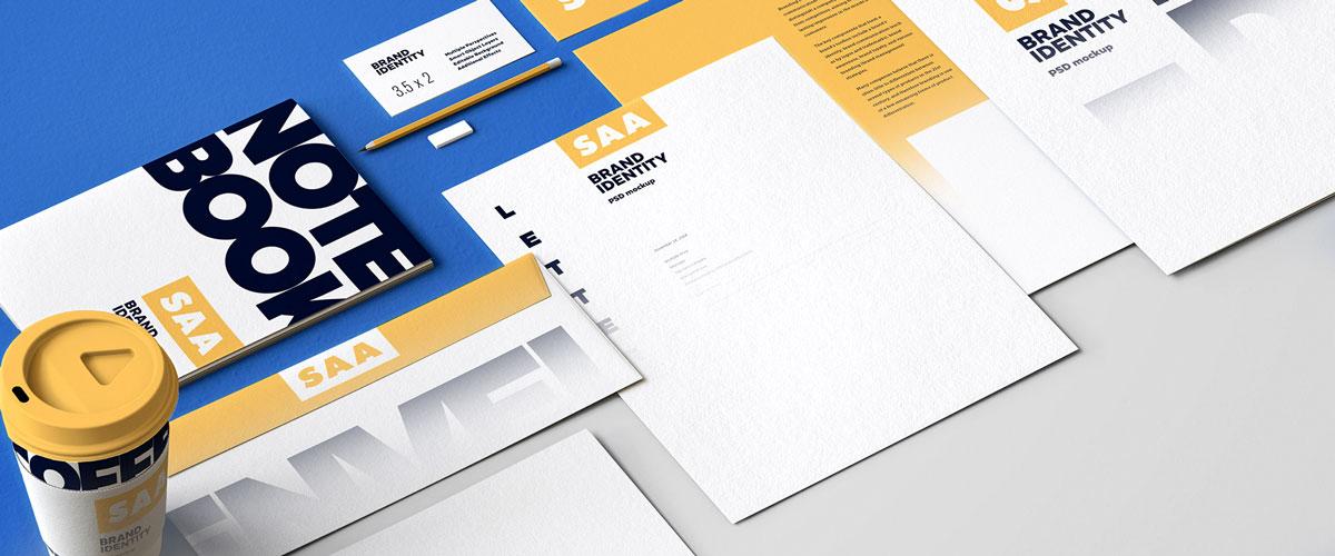 精选免费高品质品牌VI设计提案办公文创名片信纸展示样机 Identity Design Mockups Pack插图