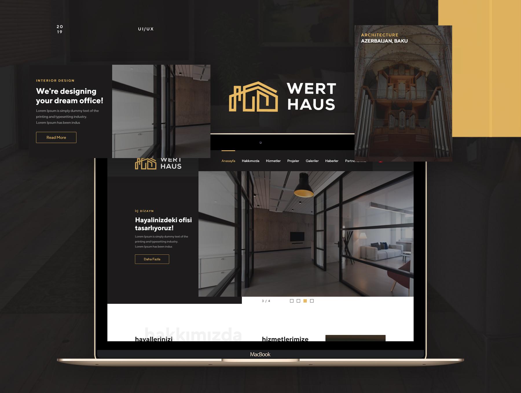 时尚简约建筑室内设计师电脑手机网站UI工具包  Werthaus Architecture UI Kit插图