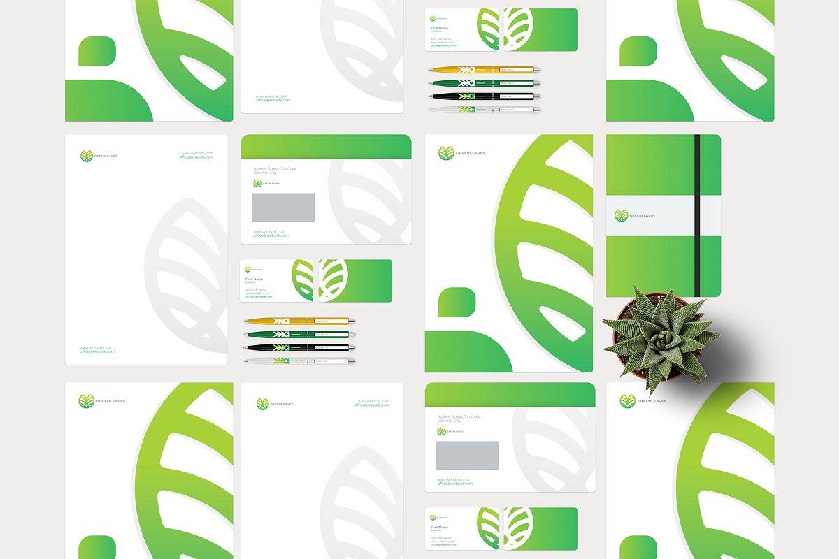 品牌VI设计提案办公文创信纸名片信封汽车展示样机 Stationery / Branding PSD Mock-Up插图(2)