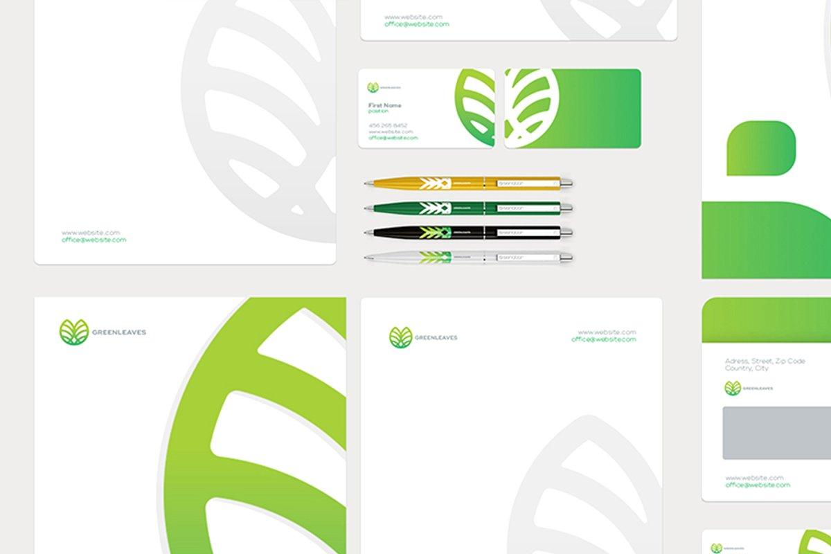 品牌VI设计提案办公文创信纸名片信封汽车展示样机 Stationery / Branding PSD Mock-Up插图(3)