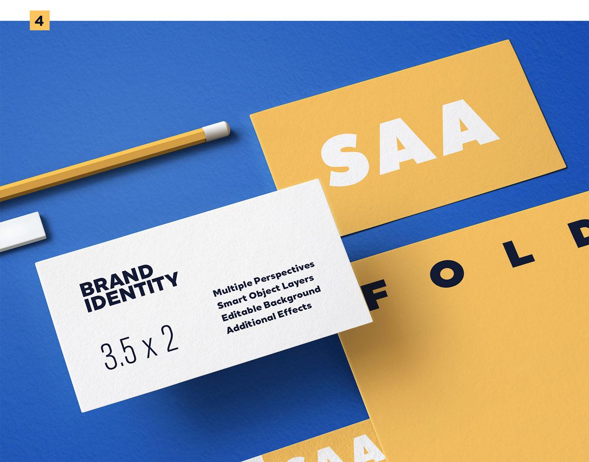 精选免费高品质品牌VI设计提案办公文创名片信纸展示样机 Identity Design Mockups Pack插图(4)