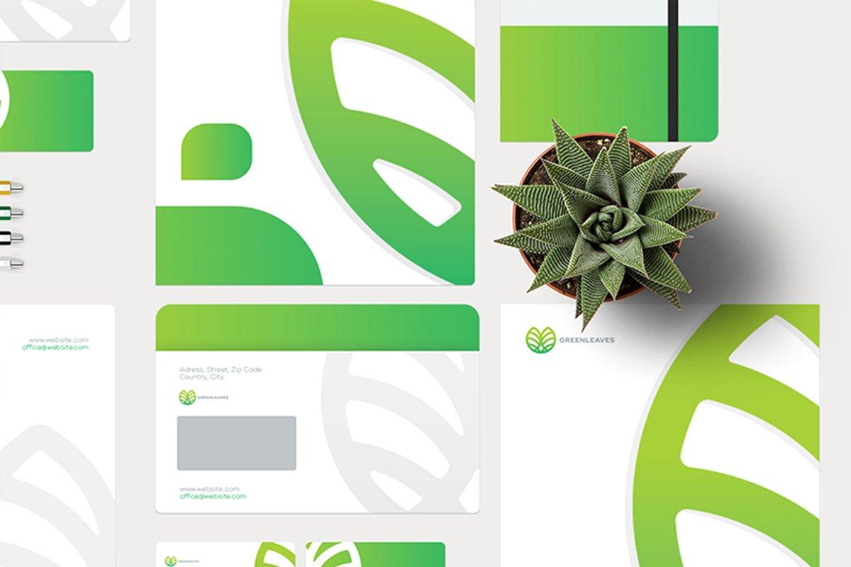 品牌VI设计提案办公文创信纸名片信封汽车展示样机 Stationery / Branding PSD Mock-Up插图(6)