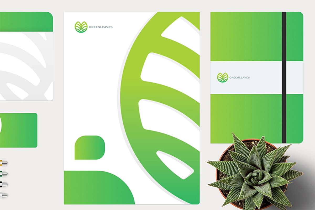 品牌VI设计提案办公文创信纸名片信封汽车展示样机 Stationery / Branding PSD Mock-Up插图(7)
