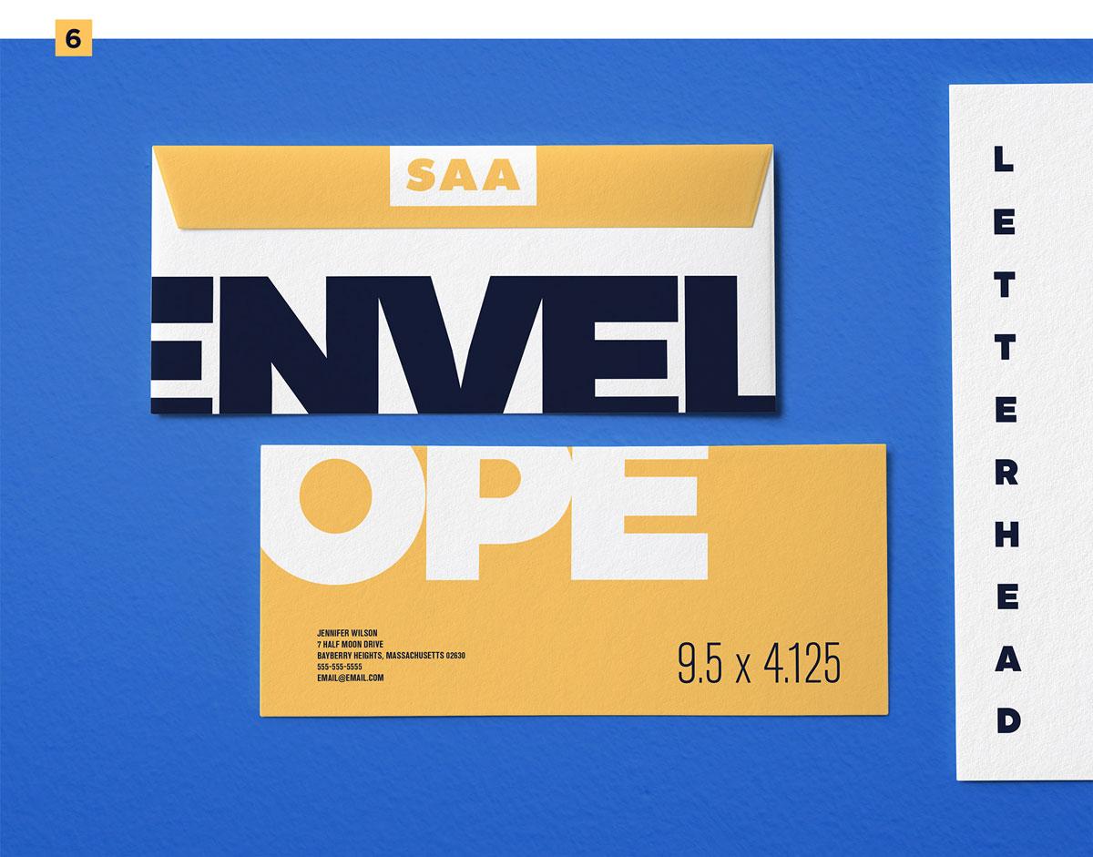 精选免费高品质品牌VI设计提案办公文创名片信纸展示样机 Identity Design Mockups Pack插图(6)